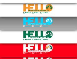 "nº 14 pour Designer a ""hello my strain name is"" sticker par hotoiueduard"