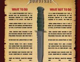 #8 cho Info graphics designed for survival book bởi shubhamchinkate8