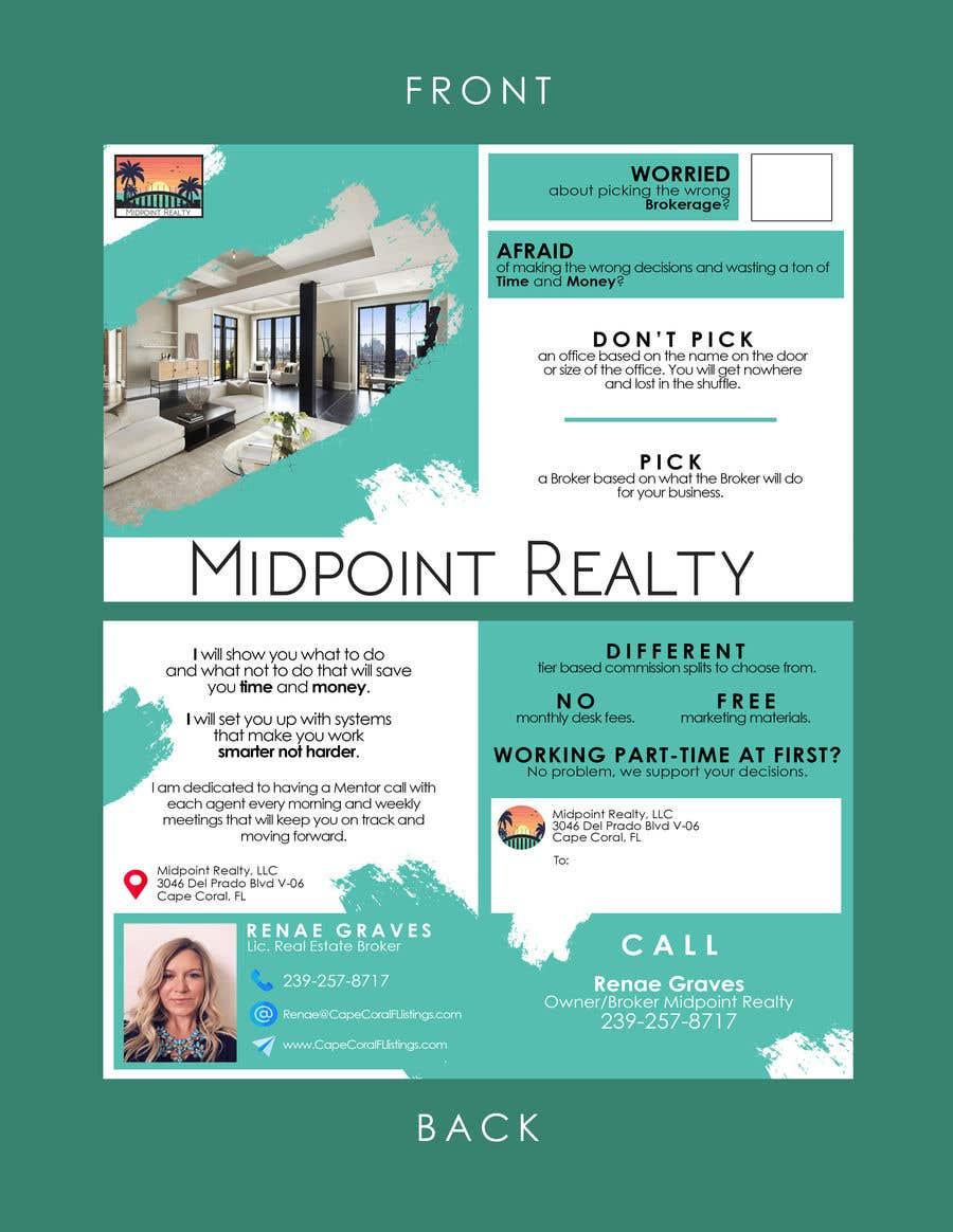 Конкурсная заявка №33 для Real Estate Brokerage Recruiting Postcard