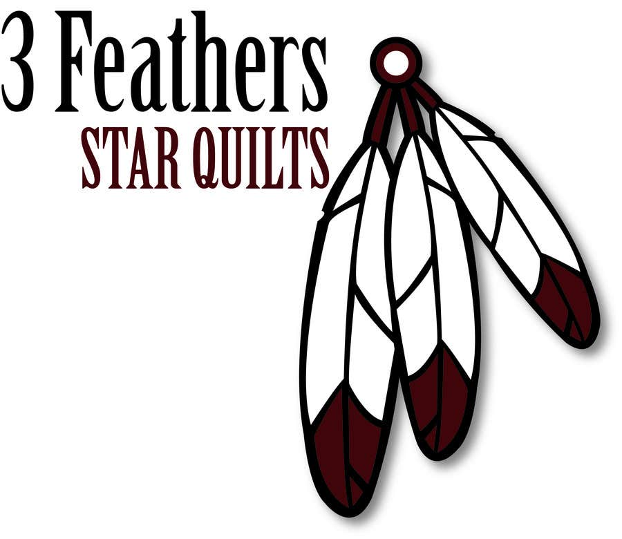 Konkurrenceindlæg #                                        47                                      for                                         Design a Logo for 3 Feathers Star Quilts