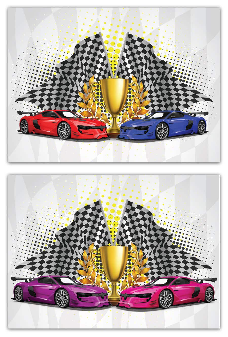 Contest Entry #12 for Make a Watercolor Race Car design in Vector file