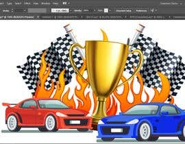 #10 for Make a Watercolor Race Car design in Vector file by msourov17