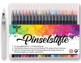 sunnycom tarafından Create a package Front Label for a PP hard plastic packaging of a watercolor brush set için no 31