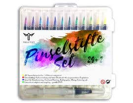 Cordaseth tarafından Create a package Front Label for a PP hard plastic packaging of a watercolor brush set için no 7