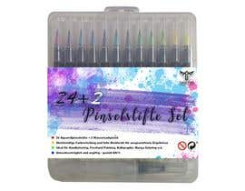 zakinaputri tarafından Create a package Front Label for a PP hard plastic packaging of a watercolor brush set için no 34