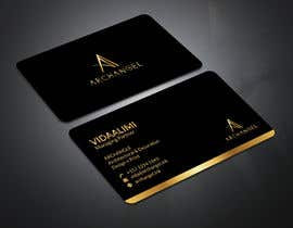 #35 for Redesign business cards in modern, clean look in black & white or gold & white af mrsmhit835