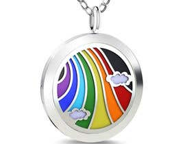 #18 untuk Stainless Steel Jewelry Designs - Rainbow / Clouds Oil Diffuser Locket oleh tranan8485