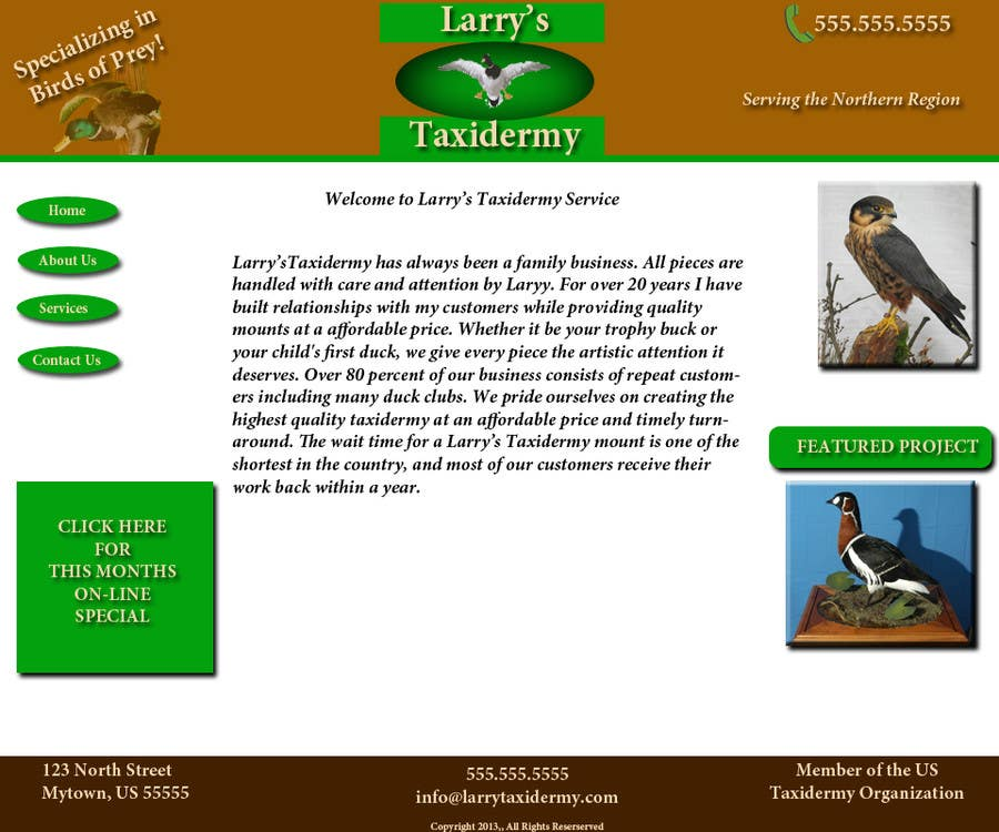 Contest Entry #                                        1                                      for                                         Graphic Design for Website Mockup