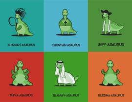 #8 cho 6 Different Cartooned Puny Versions of the same base Dinosaur w/ Names bởi LiberteTete