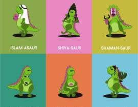 #15 cho 6 Different Cartooned Puny Versions of the same base Dinosaur w/ Names bởi LiberteTete