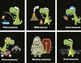 #21 cho 6 Different Cartooned Puny Versions of the same base Dinosaur w/ Names bởi baigmyasrab