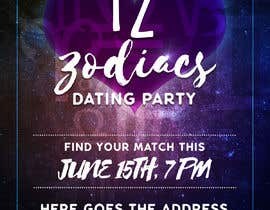 #16 cho Design a poster/banner advertising an adult zodiac/astrology themed dating party.   The tone is to be fun, playful.  I am open to receiving different ideas & have no set idea of what I'm looking for. bởi lauridomm