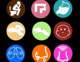 Nro 7 kilpailuun Create icons for android apps (symptoms) käyttäjältä martinvillego