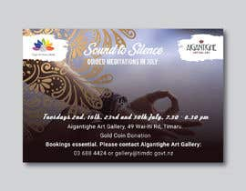 Nro 12 kilpailuun Poster for series of meditation classes in an art gallery käyttäjältä MOMODart