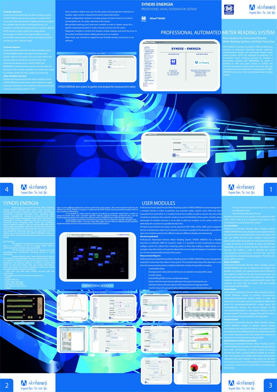 Contest Entry #                                        4                                      for                                         Brochure Design for Telemetry System Software