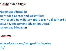 #55 for I'm looking for someone that do search online and find a video course about diabete . by adamszilamer