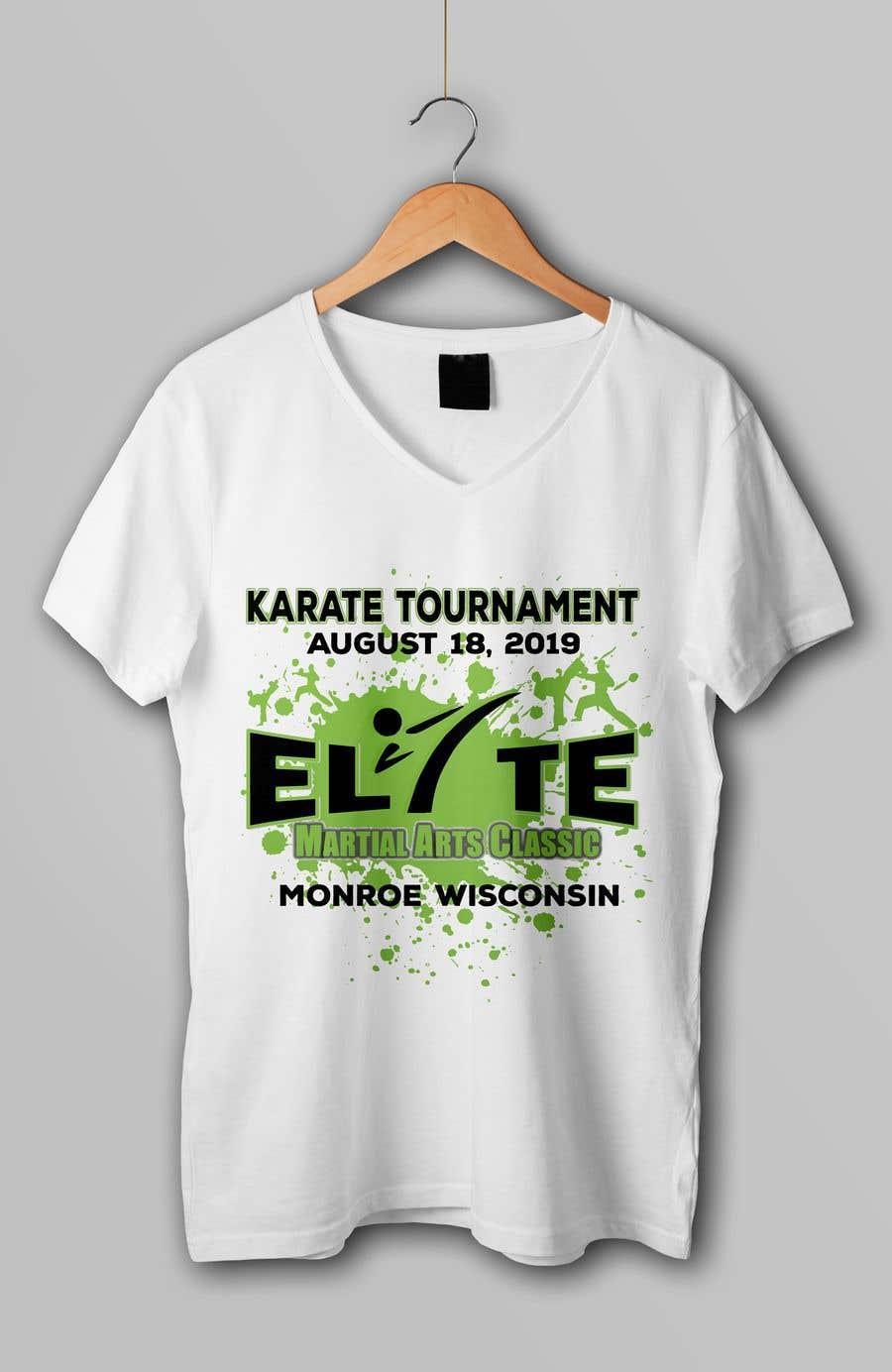 Penyertaan Peraduan #11 untuk Karate Tournament T-Shirt Design