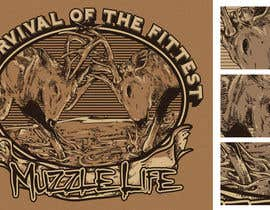 crayonscrayola tarafından T-shirt Design for Muzzle Life - Featuring two Buck Deer's in Battle! için no 15