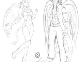 #1 untuk Draft Sketch of Fictional Characters - Anime or Fantasy - Original Work Only! oleh ronggott