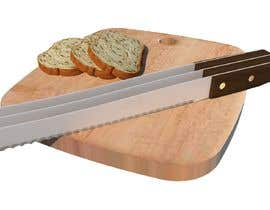 "#5 untuk Design a long bread knife similar to the attachments with 3 blades (to cut 3 pieces of bread at the same time) with 1/2"" space in between each blade. The handle should be wooden. oleh salomegb123"