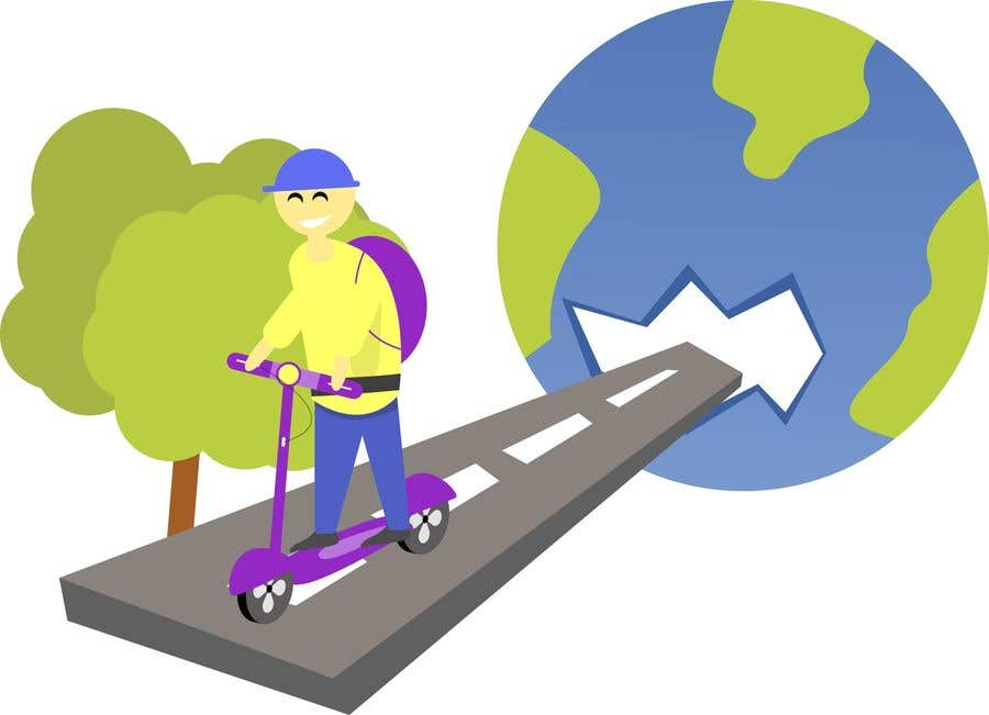 Penyertaan Peraduan #11 untuk ILUSTRATION PICTURE FOR ELECTRIC SCOOTERS BUSINESS LANDING PAGE FIRST IMAGE