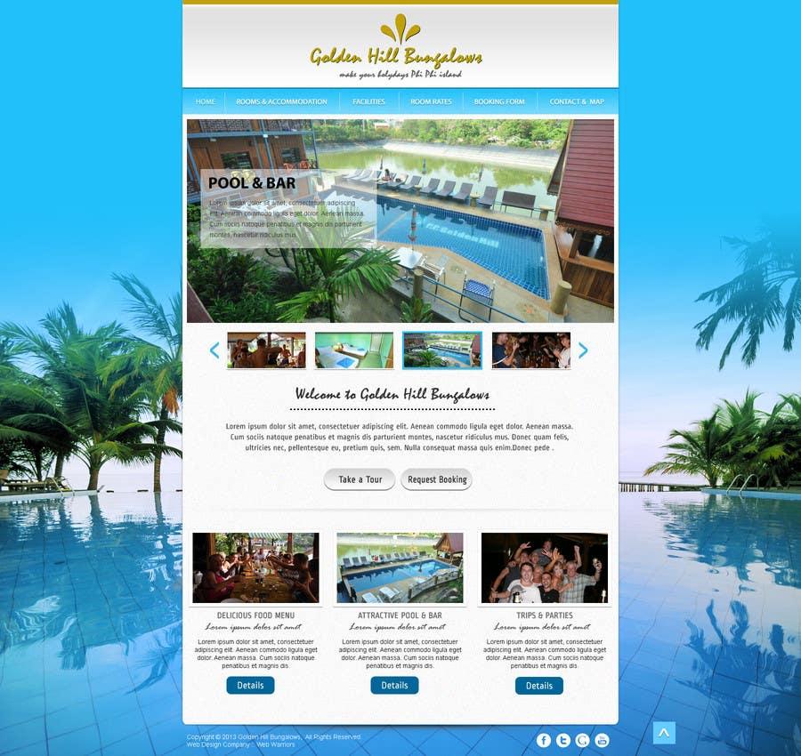 Penyertaan Peraduan #                                        6                                      untuk                                         Website Design for Golden Hill Bungalows Hotel