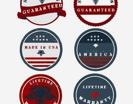 "#7 untuk Design 3 badges for website, ""Made in America"", ""Satisfaction Guaranteed"" and ""Lifetime Warranty"" oleh Mitchelly"
