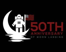 #6 for Logo for 50th anniversary of moon landing by sojebhossen01