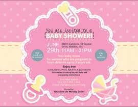 #74 untuk Baby shower flyer oleh FarooqGraphics