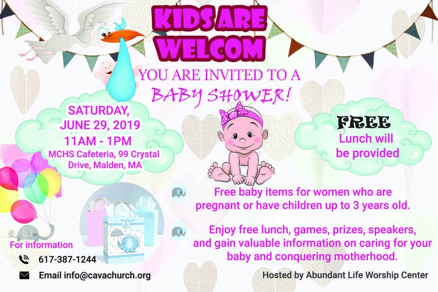 Penyertaan Peraduan #84 untuk Baby shower flyer