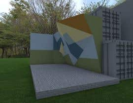sandraquiros tarafından Geometric Pattern Mural Design For A Bouldering (Climbing) Wall için no 9