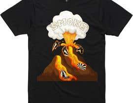 #19 for Volcano Illustration for Dart Shirt by rajuhomepc