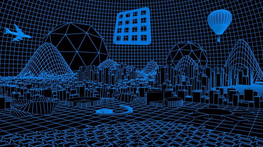 Konkurrenceindlæg #10 for Sketch of 3d grid landscape with field of data