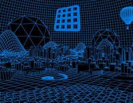 #10 for Sketch of 3d grid landscape with field of data af mrsi