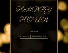 Nro 17 kilpailuun Happy Hour Invitation Card käyttäjältä MAZNIRA95