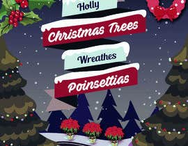 nº 16 pour Christmas Farm Sign par affiliateartme