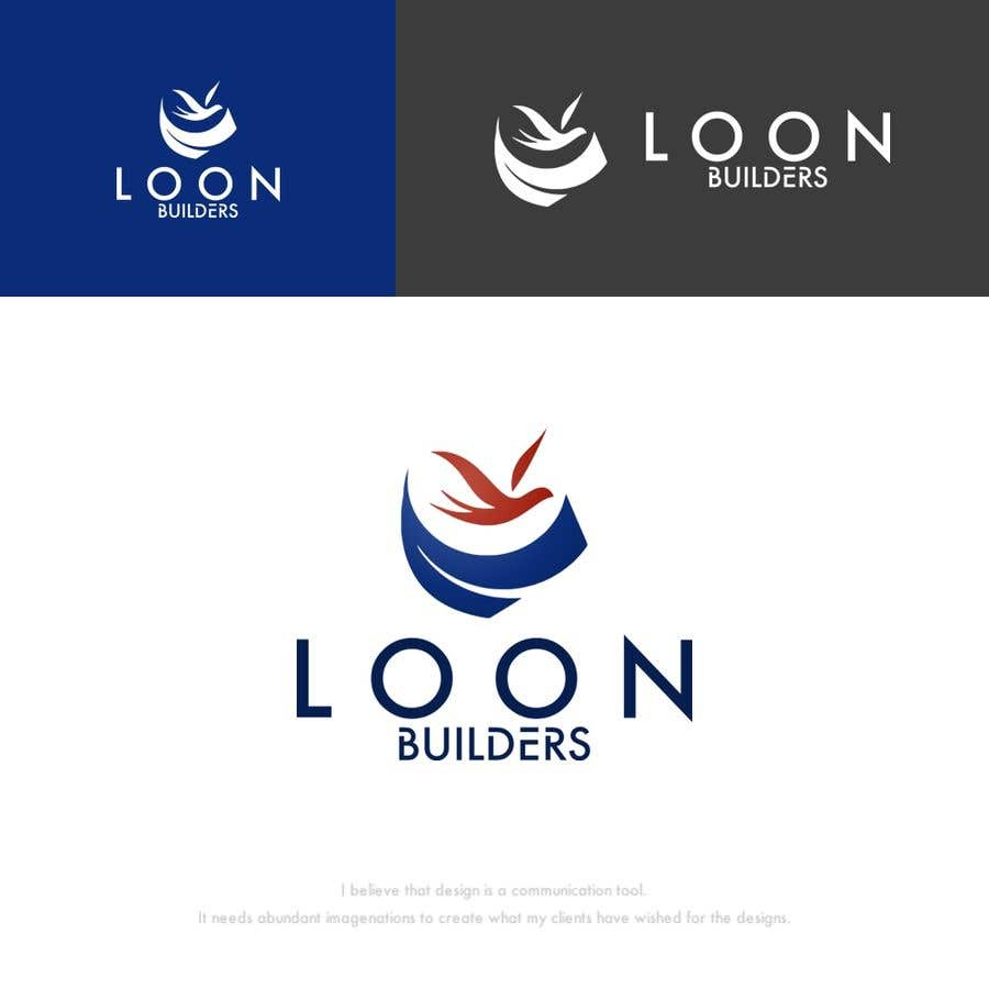 Proposition n°221 du concours Hi, I need a logo for an residential construction Company (loon builders). I prefer a loon (bird) to stand out with some construction attachments in the background. Any idea is welcome, so you guys are free to come up with something original.