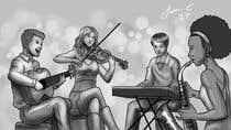 Bài tham dự #21 về Illustrator cho cuộc thi Draw me a picture of a generic band
