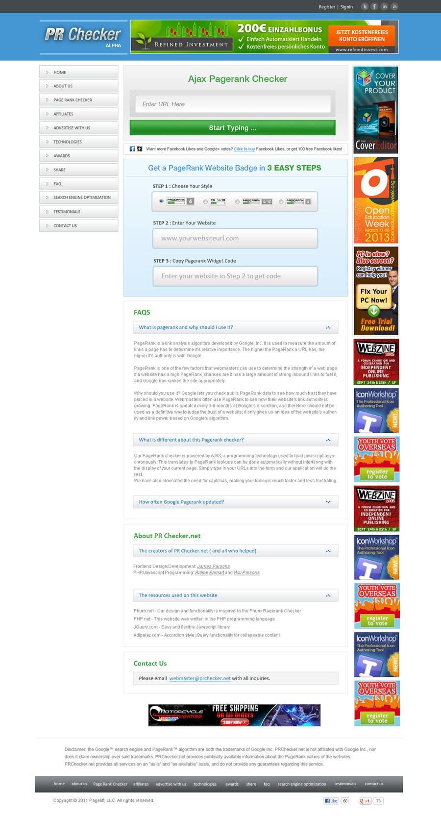 #40 for Website Design for SEO Website by vijayadesign