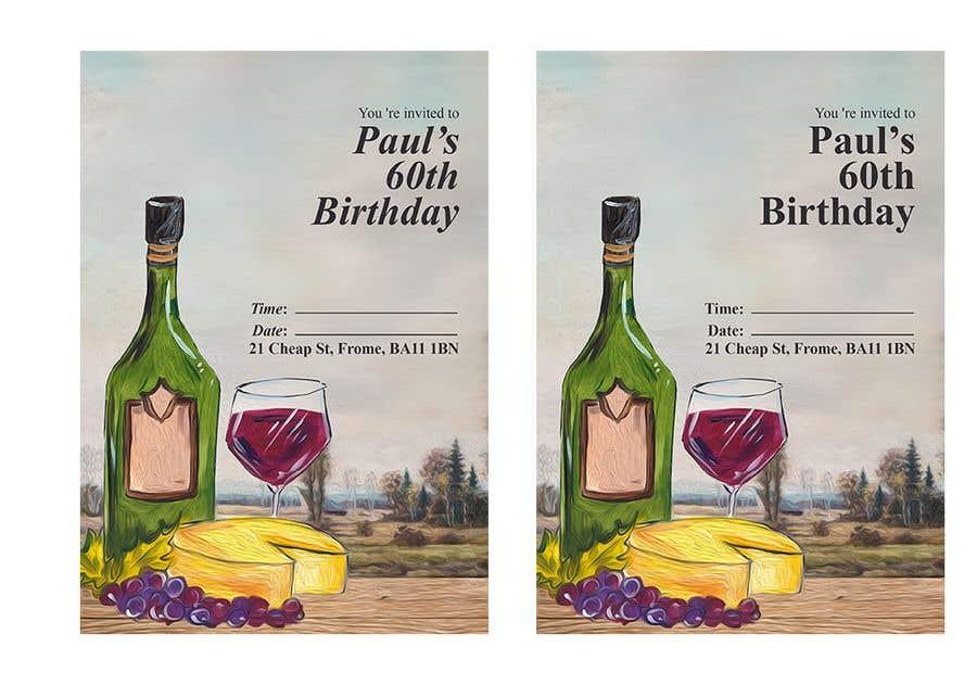 Kilpailutyö #40 kilpailussa Invitation Template for Birthday Party