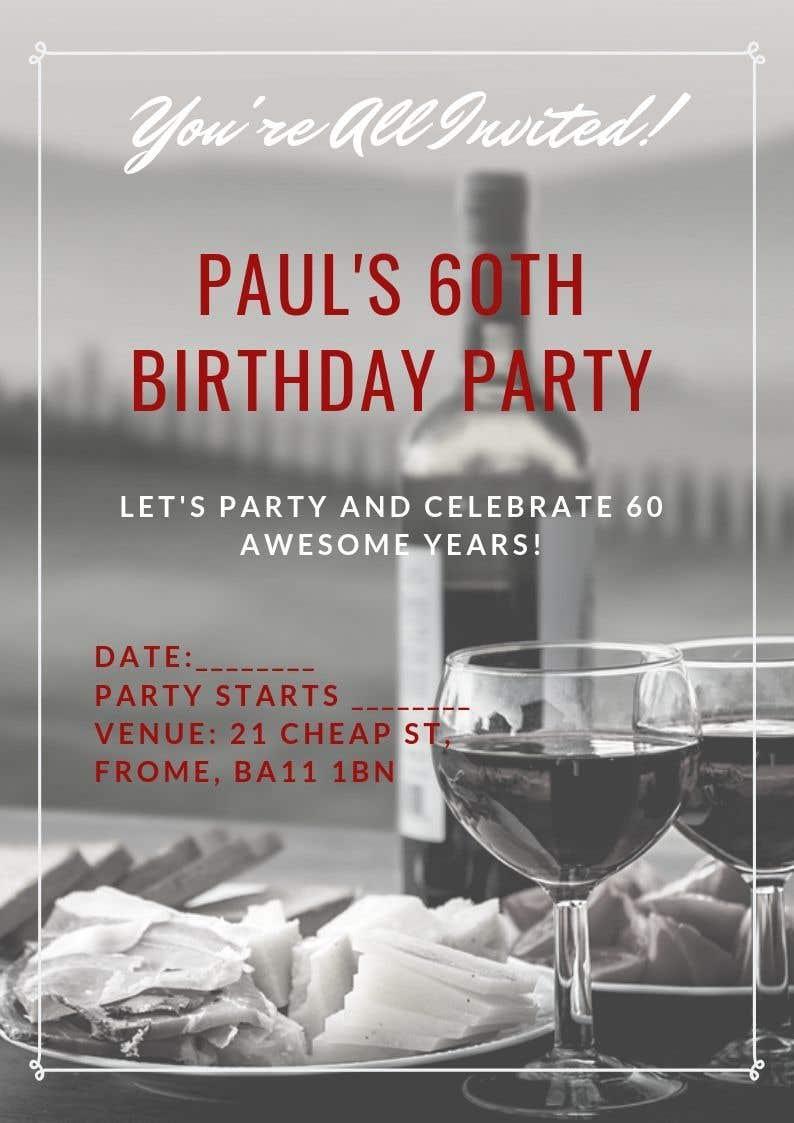 Kilpailutyö #73 kilpailussa Invitation Template for Birthday Party