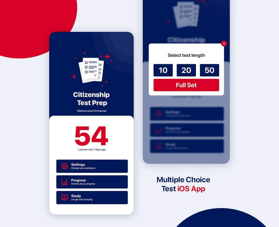 Entry #23 by adarshdk for UI Design for Multiple Choice Test