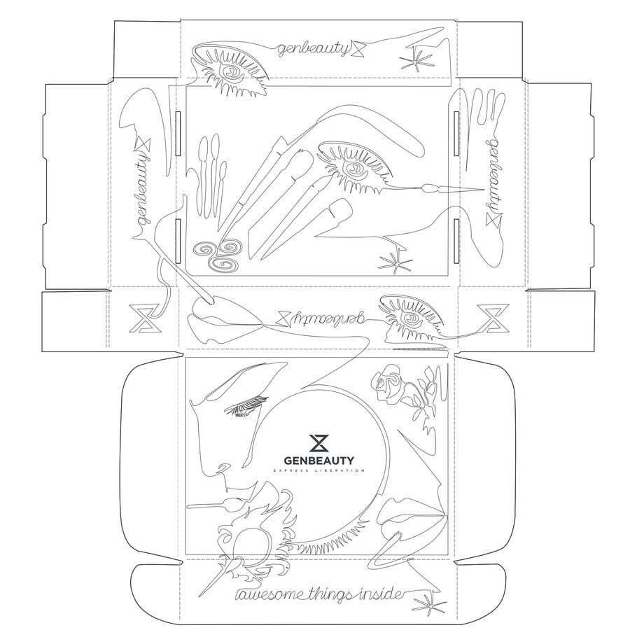 Penyertaan Peraduan #42 untuk One line art packaging design
