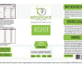 #26 para Bespoke Nutrition  Label Packaging Design por metaphor07