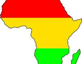 nº 5 pour A high quality Logo of Africa containing the colours red,gold and green par parttimechon