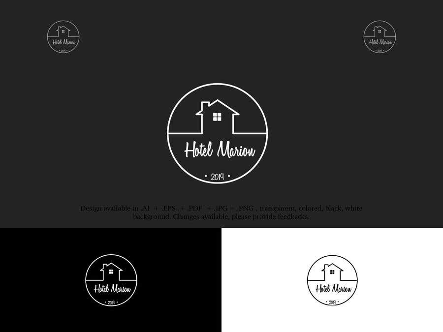 Kilpailutyö #5 kilpailussa Modern logo for a boutique hotel. Named Hotel Marion