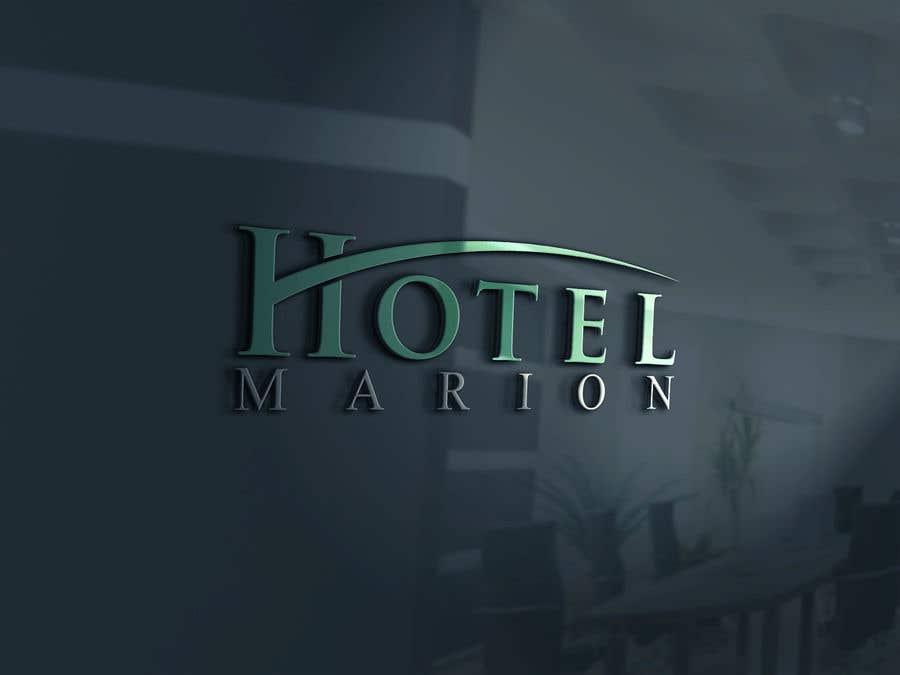 Kilpailutyö #374 kilpailussa Modern logo for a boutique hotel. Named Hotel Marion