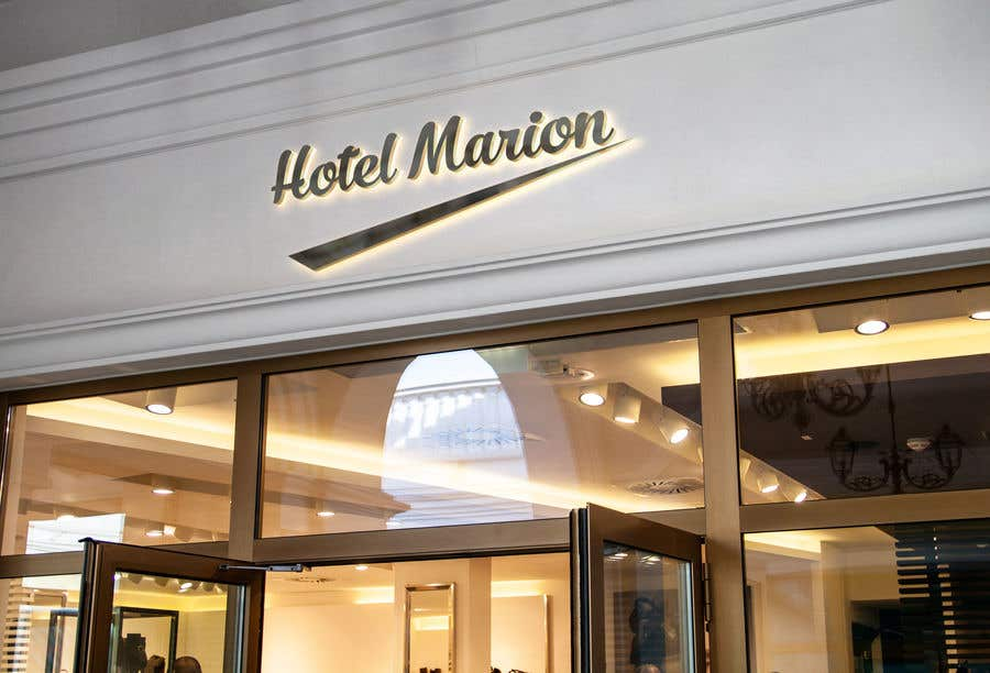 Kilpailutyö #175 kilpailussa Modern logo for a boutique hotel. Named Hotel Marion
