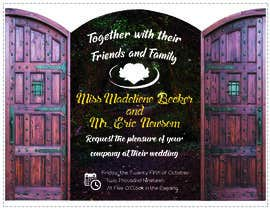 #18 for Design Wedding Invitation-Need Graphic Design Artist's Touch by piyush41y08h