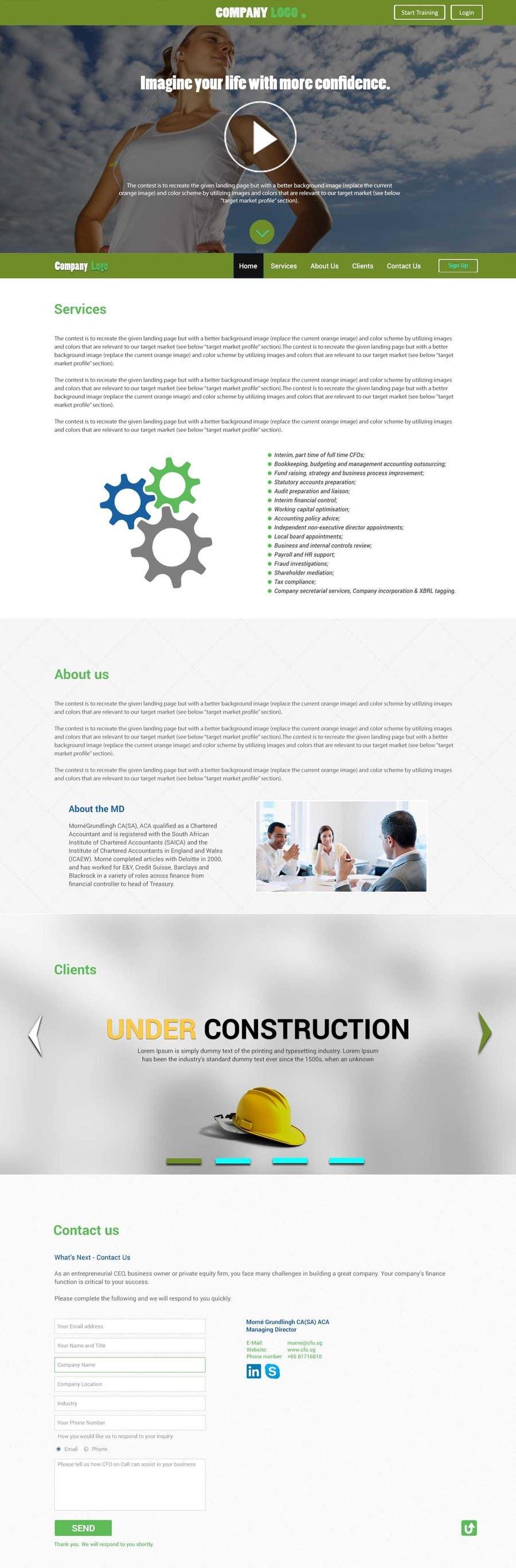 Penyertaan Peraduan #                                        11                                      untuk                                         Creative Landing Page Design